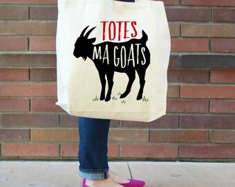 Totes Ma Goats XL Canvas Tote Bag