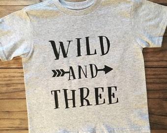 Wild & Three Tee