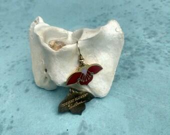 Laurel Burch Vintage Lotus Flower Earrings