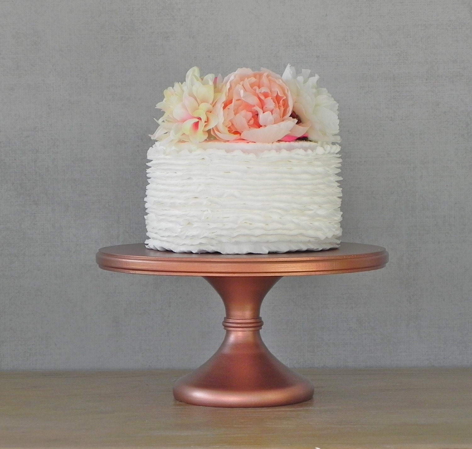 12 Wedding Cake Stand Cupcake Pedestal Rose Gold Copper