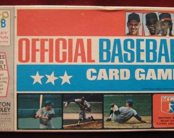 Vintage Milton Bradley OFFICIAL BASEBALL CARD Game 1970 Edition mlb