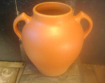 Vintage Pfaltzgraff  Orange Arts & Crafts Vase, 112