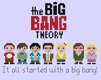 The Big Bang Theory PDF cross stitch pattern - instant download