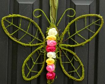 Spring and Summer Wreath - Butterfly Wreath - Door Wreath