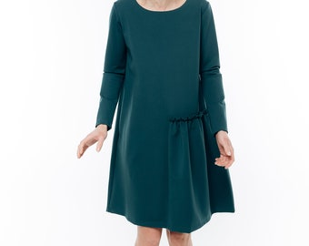 Green dress | Green short dress | Dark green dress | LeMuse green dress