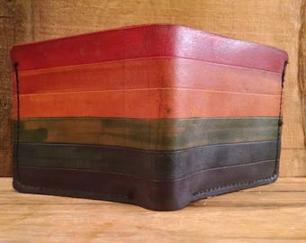 Rainbow single fold Wallet