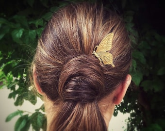 Butterfly Hair Comb Gold Butterfly Hair Clip Nature Hair Accessories