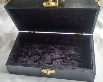Velvet jewelry box Etsy