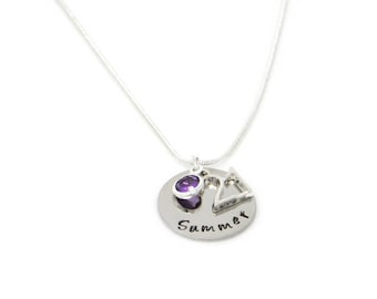 Personalised 21st Birthday Birthstone Necklace - Gift Boxed
