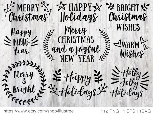 112 Christmas Overlays Black And White Clip Art For