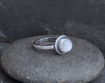 HandmadeMoonstone and Sterling Silver Ring.