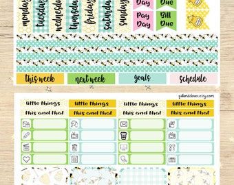 Erin Condren Horizontal Honey Bees Sticker Kit
