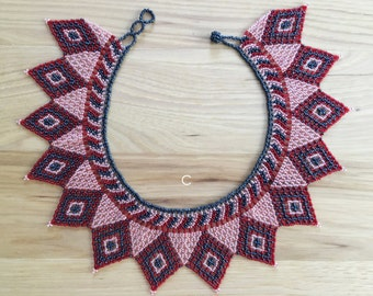 Necklace Choker Huichol – Romea Accessories – Mexican Style – Jewelry -  Beaded choker necklaces