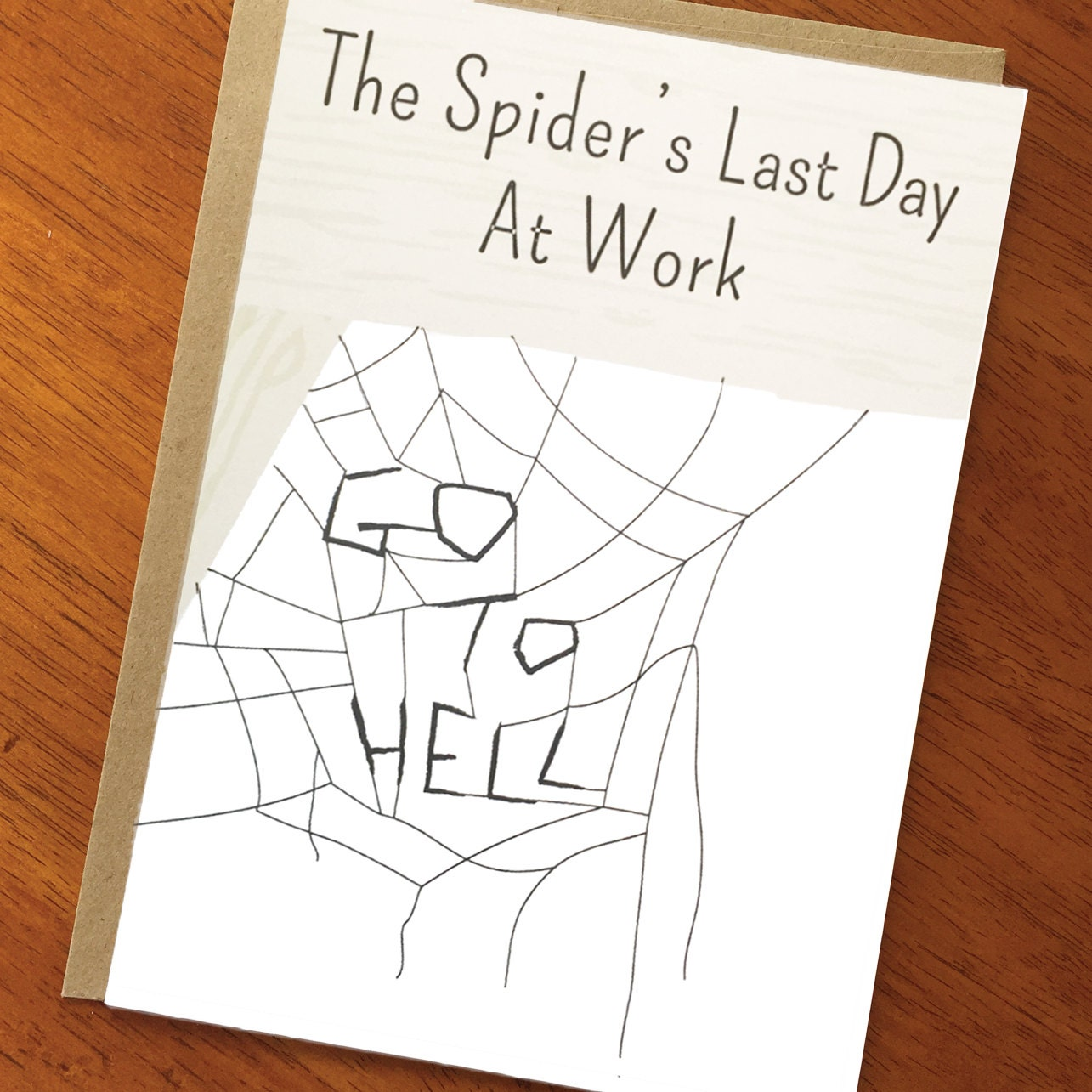Funny goodbye card spiders last day at work cute zoom kristyandbryce Images