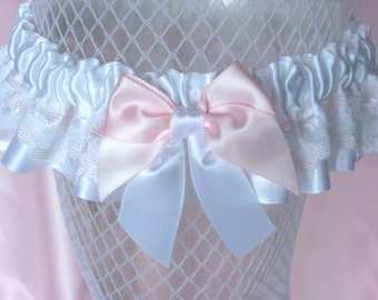 White , Pink , Lace , Satin , Garter , Wedding , Bride , Bridal , Hen , Bachelorette , Lingerie , Prom , nitelifefashion , UK