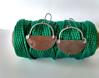 Made with recycled metal earrings Ile