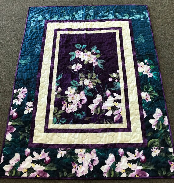 Evening Garden Quilt Shades of Blues and Purple Quilt Kit