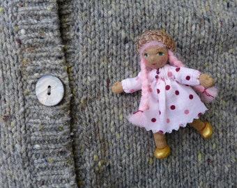 Sweet Pink Pin Doll Waldorf Inspired