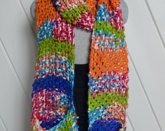 Crazy Colorful Pocket Scarf