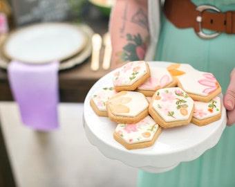 Floral Hexagon Cookies