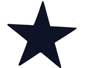 1 star cut 10 cm leather Navy Blue night