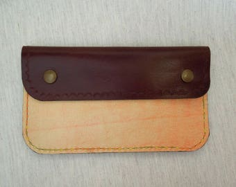 Wallet with Texture Orange Leather