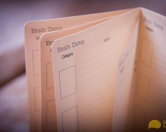 Brain Dump Paper Refill Midori Travelers Notebook  - Journal Refills - FauxDori Refills -  Notebook. - Choise of 28 shades