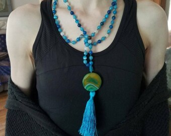 Cool Blue Restorative Prayer Mala