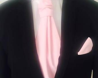 Pink solid (Ascot) Ascot tie - men