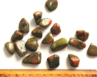 1 Unakite tumbled stone healing crystals and stones heart chakra unconditional love stone joy birthday gifts for wife under 5 meditation gem