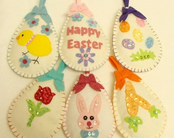 Easter Egg Ornaments Pattern-Instant PDF pattern download Hand Sewing & Embroidery