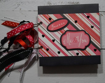 Valentine's Forever Me & You 5x5 Scrapbook Mini Album