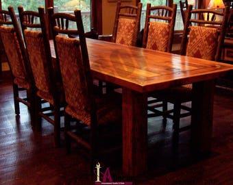 Rustic Dining Table Reclaimed Wood Barnwood Elegance Timber