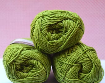 Catania yarn - Schachenmayr / 205 Apfel / Worldwide Shipping / Crochet and Knitting Yarn / 1 ball/50g