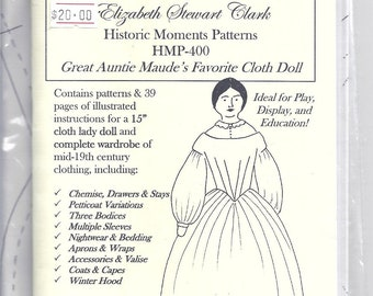 Elizabeth Stewart Clark Civil War doll pattern