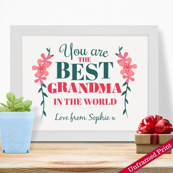 Home Kitchen Personalised Gifts For Grandma Nanny Granny Mothers Day Birthday Christmas Xmas From Grandson
