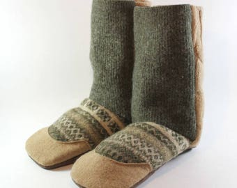 Kids Slippers- Boys Slippers- Waldorf Slippers- Girl Gift- Unique Kids Gift- Sustainable Clothing- Slipper Boots- Wool Slippers