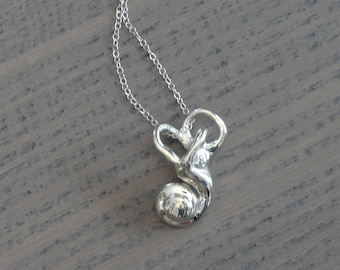 Anatomical Jewelry - Sterling Silver Inner Ear Necklace