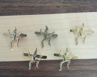 Vintage brownie pixie pins set of 5