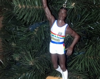 Dikembe Mutombo  Denver Nuggest basketball christmas sports ornament many to choose from.