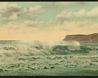 Point Loma, San Diego, California 1898. Vintage photo panorama reprint 8x16-up. Oceans Peninsulas California San Diego Point Loma