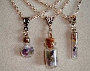 Chakra Necklace, Seven types Gemstones In Each Bottle, Birthday Gift, Christmas, Mothers Day, Friend Gift, Treat Yourself, Chakra Stones