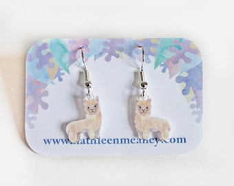 Llama / Alpaca drop earrings