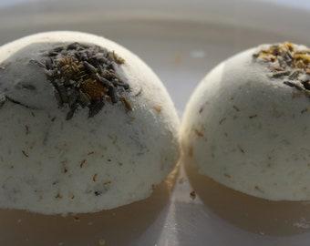 Aromatherapeutic Bath Bombs: Vanilla Chamomile & Lavender