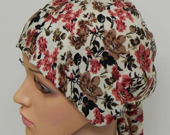 Chemotherapy head scarf, cancer patient head wear, hair loss head covering, chemo bandanna, surgical head wrap, indoor headscarf