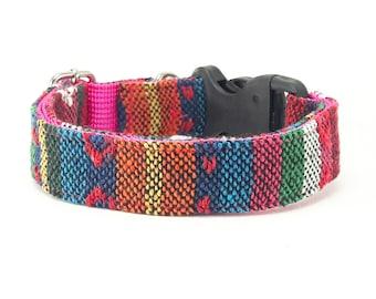 Pink Blue Green OrangeTribal Boho Bohemian Aztec Navajo Dog Collar, Dog Collar, Dog Collars for girls, Dog Collars for boys, summer spring