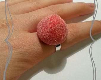 """Adjustable ring """"Sweet Strawberry red"""""""