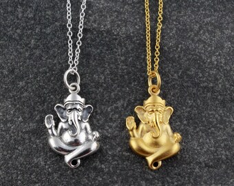 Ganesh charm etsy quick view sterling silver ganesh pendant aloadofball Image collections