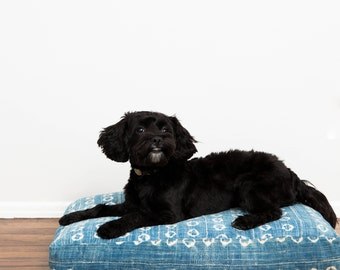 Indigo Shibori Dog Bed // Small