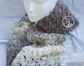 Super Scarf, Long Scarf, Stylish Scarf, Infinity Scarf, Handmade, Crocheted Scarf, Soft Scarf,